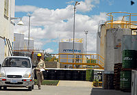Refinery of Brazilian state-owned Petrobras in Cochabamba, Bolivia