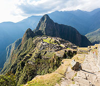 The Inca estate of Machu Picchu, Peru is one of the New Seven Wonders of the World.