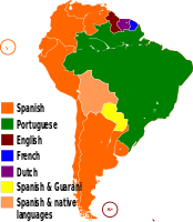 Official languages in South America
