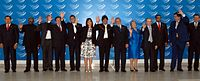 Presidents of UNASUR member states at the Second Brasília Summit on 23 May 2008.