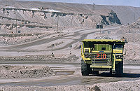 Chuquicamata is the largest open pit mine in the world, near the city of Calama in Chile.