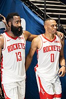 Former Thunder teammate Russell Westbrook joined Houston in 2019–20.