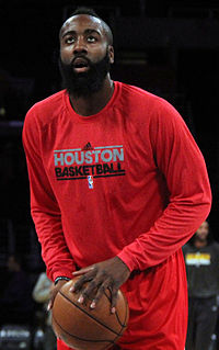 Harden with the Rockets in 2012
