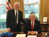 Brooks with Donald Trump in the Oval Office, 2017