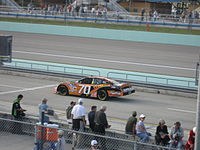 Sauter practicing for the 2007 Ford 400 at the Homestead-Miami Speedway.
