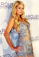 Hilton at the opening gala of Marquee The Star, Sydney, Australia in 2012