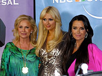 Hilton with her mother Kathy Hilton and aunt Kyle Richards at a NBC event in February 2011