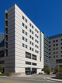 Ronald Reagan UCLA Medical Center, near the main entrance to the campus