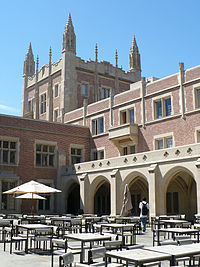 Kerckhoff Hall houses the student government and the Daily Bruin.