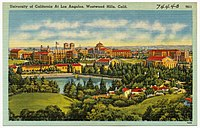 Postcard circa 1930 to 1945 of the new Westwood campus.