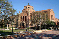 Powell Library, across the quad from Royce Hall
