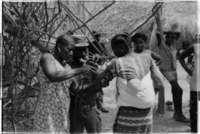 A jet injector being used in 1973, in Campada, Guinea-Bissau