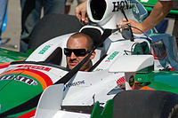 Kanaan's car on pit lane at an event during the 2007 season