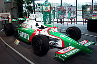 The car Kanaan used to win the 2004 championship at the Honda Collection Hall