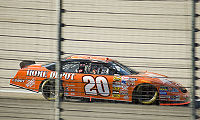 Stewart races by at Texas Motor Speedway in 2007.