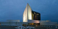 John F. Kennedy Presidential Library and Museum, located in the Dorchester section of Boston, Massachusetts