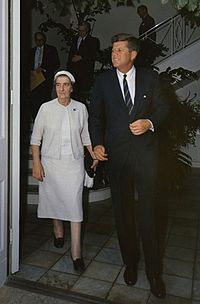 Kennedy with Israeli Foreign Minister Golda Meir, December 27, 1962