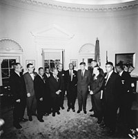 Kennedy meets with leaders of the March on Washington in the Oval Office, August 28, 1963