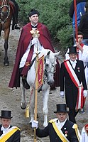 Frock coats at the Blutritt in Weingarten, Upper Swabia, 2011. An annual Catholic equestrian procession in honour of a relic containing the blood of Jesus Christ.
