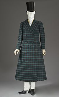 Man's wool and silk twill frock coat, France, 1816–1820. Los Angeles County Museum of Art, M.2010.33.7.. However resembling the preceding 18th century frock.
