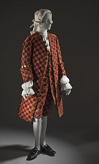 Justacorps, the precursor to the frock coat fashionable from the 1660s until the 1790s.