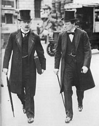 """The """"Terrible Twins"""" David Lloyd George and Winston Churchill (1907) during the peak of their """"radical phase"""" as social reformers"""