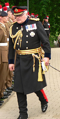 A British Army general wearing a frock coat in 2012.