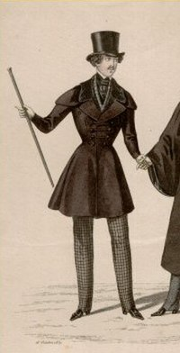 Redingote croisée or double-breasted frock coat (1837)