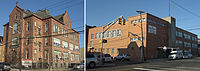 Mother Seton Interparochial School (left) and Miftaahul Uloom Academy, a Pre-K to 12th grade Islamic school (right), are both located on 15th Street.