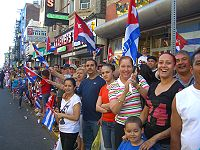 Revelers during the 2010 Cuban Day Parade on Bergenline Avenue