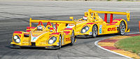 Both of Penske's RS Spyders at the 2007 Generac 500 where they scored an overall victory.