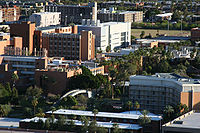 The campus of ASU from Tempe Butte in nearby Tempe