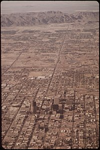 Phoenix in May 1972, with South Mountain in the background.