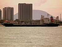 A ship at the Port of Penang in Butterworth
