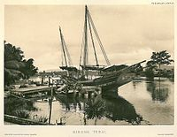 A ship anchored off Nibong Tebal in the 1900s.