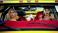 Gaga and Beyoncé in the Pussy Wagon