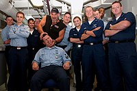 Bill Goldberg during his tour of USS Ronald Reagan