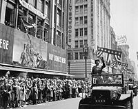 George Patton during a welcome home parade in Los Angeles, June 9, 1945
