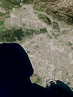 Satellite photo shows The city of Los Angeles