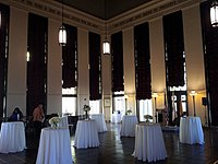 The Tom Bradley Room, making up the whole interior of L.A. City Hall's 27th floor