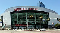 Staples Center is a sports arena, home to the Los Angeles Lakers, Los Angeles Clippers, Los Angeles Kings and Los Angeles Sparks.
