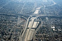 The Judge Harry Pregerson Interchange, connecting the Century Freeway (I-105) and the Harbor Freeway (I-110)