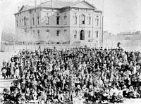 Second branch of the California State Normal School in downtown Los Angeles opened its doors in 1882.