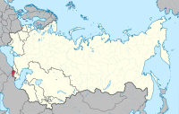 Location of Armenia (red) within the Soviet Union