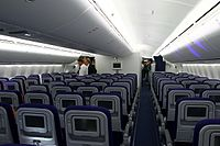 Economy Class on a 747-8I in a 3-4-3 layout.