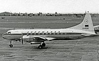 Lufthansa's first aircraft, a Convair 340 (type pictured), was delivered in August 1954.