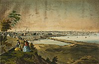Providence's rapidly industrializing skyline in the mid-19th century