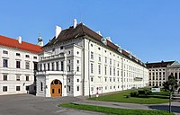The Leopoldine Wing of Hofburg Imperial Palace in Vienna, home to the offices of the Austrian president