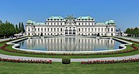 The Belvedere Palace, an example of Baroque architecture