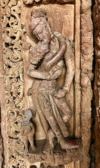 Carved statue in the medieval city of Sirpur